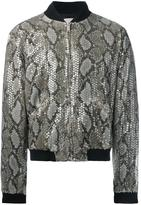 Palm Angels snakeskin print bomber - men - Polyamide/Viscose - 50