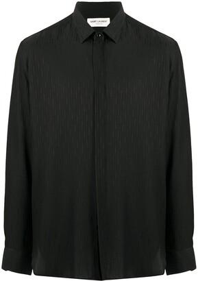 Saint Laurent Striped Satin Buttoned Shirt