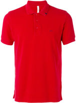 Sun 68 contrast logo polo shirt - men - Cotton - S