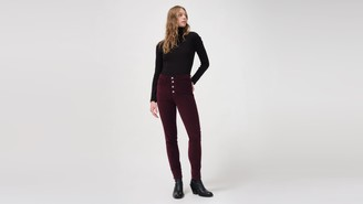 Levi's 721 Corduroy High Rise Button Front Skinny Women's Pants