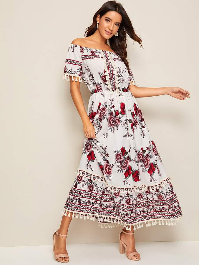 9ea62c2cfd Boho Floral Maxi Dress - ShopStyle