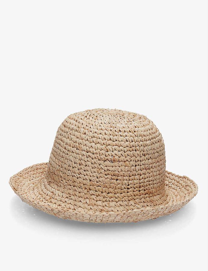 The White Company Raffia straw bucket hat