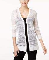 Cable & Gauge Cupio Pointelle-Knit Cardigan