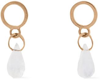 Melissa Joy Manning 14-karat Gold Moonstone Earrings