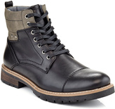 Black & Gray Accent Lace-up Boot - Men