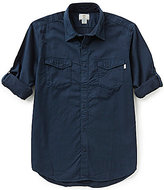 Timberland Long-Sleeve Solid Twill Cargo Woven Shirt