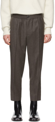 Ami Alexandre Mattiussi Grey Wool Cropped Trousers