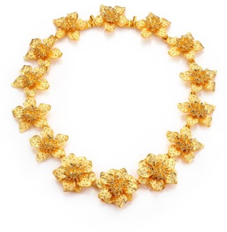 Kenneth Jay Lane Satin-Finish Flower Necklace