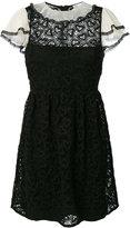 RED Valentino macrame lace trim dress - women - Cotton/Polyester - 38