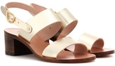 Ancient Greek Sandals Lefki Block leather sandals