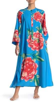 Natori Zip Floral Caftan