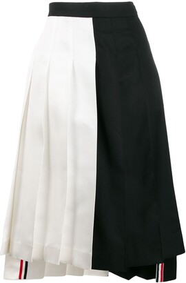 Thom Browne two-panel pleated mini skirt