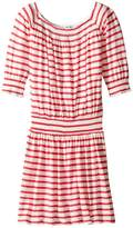 Splendid Littles Off the Shoulder Striped Dress (Big Kids)