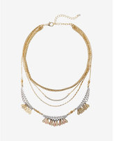 Express two tone layered necklace