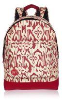 River Island White Mi-pac Ikat Print Backpack