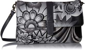 Anuschka Anna By Anna by Hand Painted Leather Women's Medium Flap Messenger