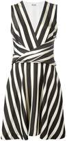 MSGM striped flared dress