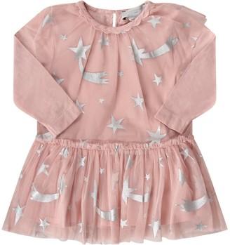 Stella McCartney Pink Babygirl Dress With Silver Stars