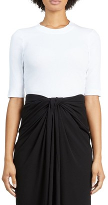 Rosetta Getty Cropped-Sleeve T-Shirt
