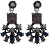 The Two Mrs Grenvilles Deco Pearl/Cz Drop Earring