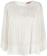 Twin-Set Lace Embroidered Cotton Blouse
