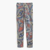 J.Crew Girls' everyday leggings in vibrant paisley