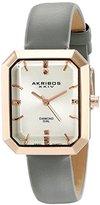 Akribos XXIV Women's AK749GY Lady Diamond-Accetned Gold-Tone Watch