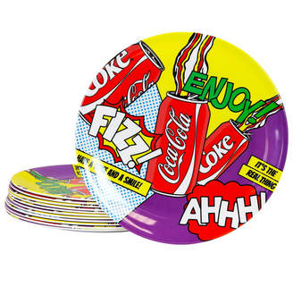 "Coca Cola Pop Art 12 Piece 10.5"" Dinner Plate Set"