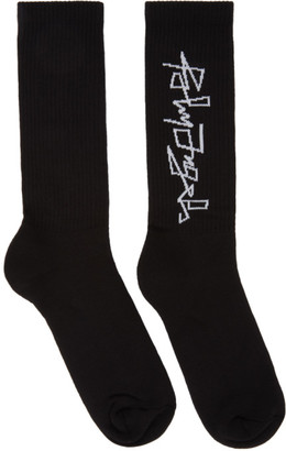 Palm Angels Black Desert Logo Socks