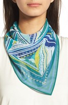 Halogen Women's Triangle Print Square Scarf