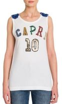 Dolce & Gabbana Embroidered Capri Tank Top