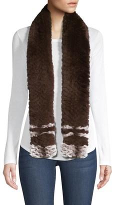 Adrienne Landau Rex Rabbit Fur Scarf