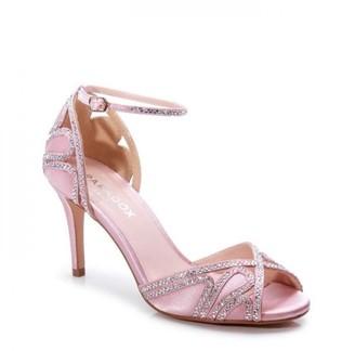 Paradox London Satin 'Latoya' High Heel Ankle Strap Sandals