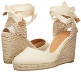 Castaner Carina 80 Wedge Espadrille (Ivory) Women's Shoes