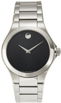 Movado 0606333 Silver-Tone & Black Watch