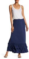 Max Studio Flounce Maxi Skirt