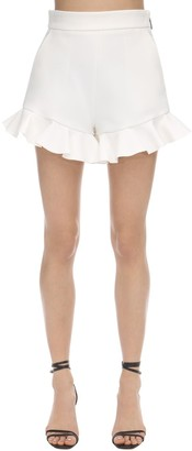 MSGM Ruffled Techno Crepe Shorts