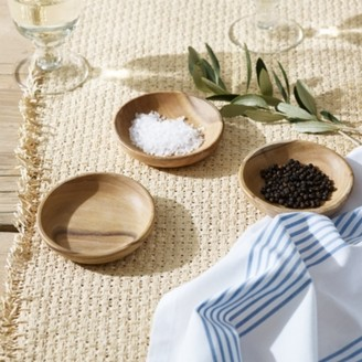 The White Company Eucalyptus Wood Dipping Bowl - Set of 3, Natural, One Size