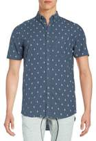 Zanerobe Regular-Fit Teardrop-Print Cotton Sportshirt