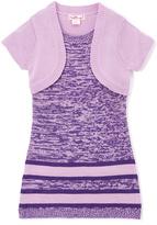 Pink Angel Purple Twist Stripe Layered Dress - Infant Toddler & Girls