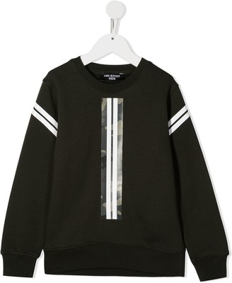 Neil Barrett Kids Camouflage Tape Cotton Sweatshirt