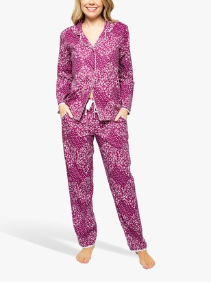 Cyberjammies Nova Ditsy Print Pyjama Set, Pink