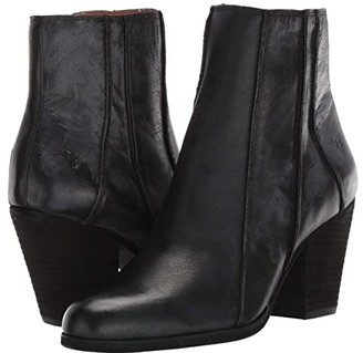 Frye Essa Seam Bootie (Black Leather) Women's Boots