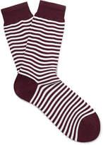 Sunspel - Striped Mercerised Cotton-blend Socks