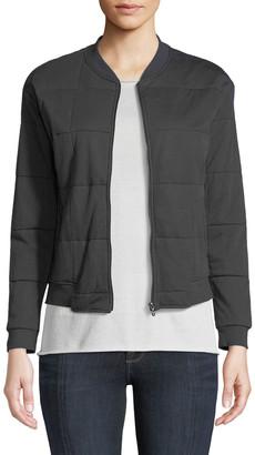 Majestic Paris For Neiman Marcus Quilted Zip-Front Bomber Jacket