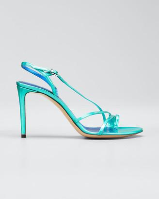 Nicholas Kirkwood Elements 85mm Iridescent Toe-Loop Sandals