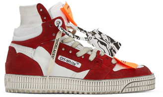 Off-White White and Red Off Court 3.0 High-Top Sneakers