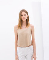 Zara Top With Gathered Back
