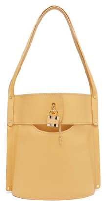 Chloé Aby Large Logo-embossed Leather Bucket Bag - Womens - Beige