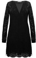 Gold Hawk English Lace Long Sleeve Dress